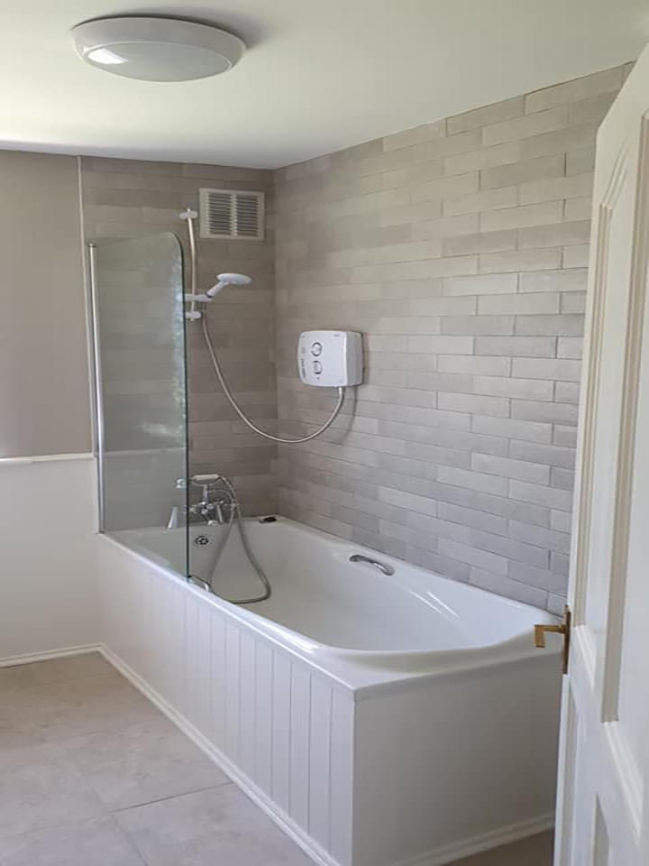 long shower and bath